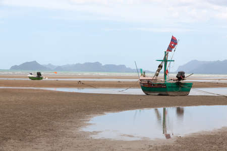 sheltered: Sheltered wood mooring on Beach, the seaside in Thailand