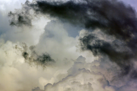 unpredictable: rainy clouds in the sky. Naturally, in the rainy season Stock Photo