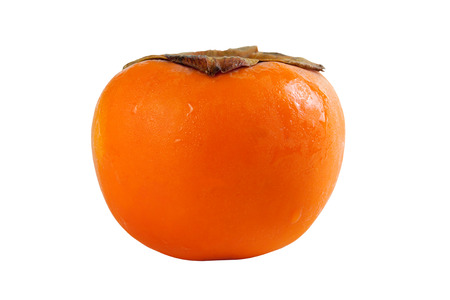 Persimmon fruit fresh isolated on white background. With clipping path