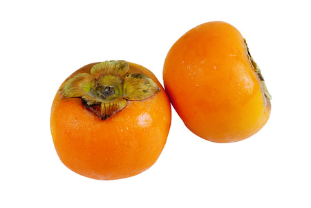 Persimmon fruit isolated on white background. With clipping path Stock Photo