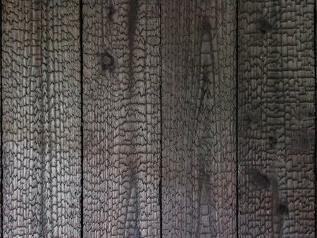 Burned wood decorate wooden surface to create texture.