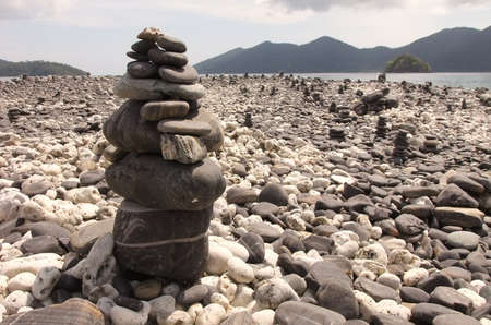 unkind: Stone at island in south of Thailand Stock Photo