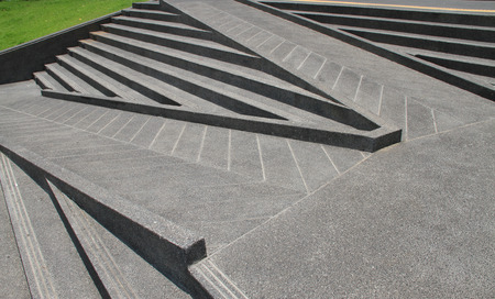 Stairs and ramps made from cements for disabled