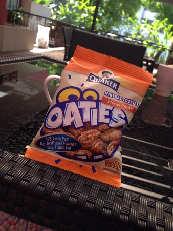 quaker: Quaker Oaties cookies Stock Photo