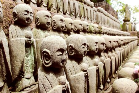 rt: The Jizo Statues Represent The Souls Of Miscarried, Stillborn Or Aborted Children. Stock Photo