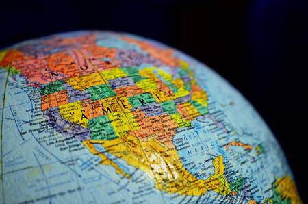 Globe Model (map, globe, America) photo