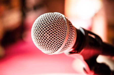 Microphone in karaoke room or conference room