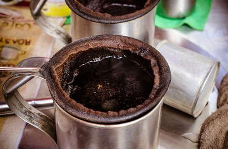 tea filter: Traditional cotton filter for thai coffee , thai tea