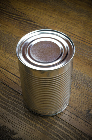aluminum cans: Aluminum cans on wooden background (caned, aluminum, recycle) Stock Photo