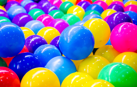 ball: Colorful plastic balls for background
