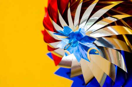 hand made: Rotating hand made toy windmill, Close up image