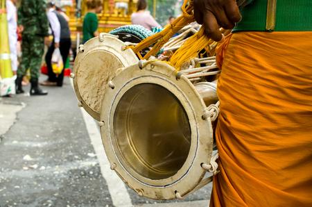malaysia culture: Urumi melam drums, Outdoor view