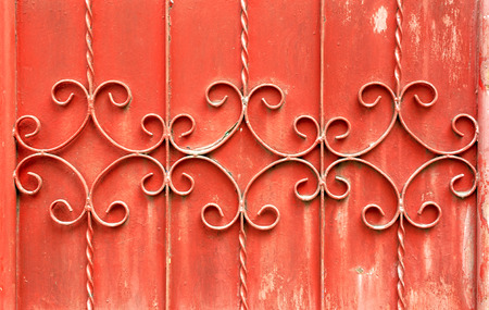 siderurgia: Ancient red rust Door, Used for texture and background