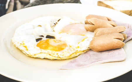Color Effect Image for English Breakfast, Selective and Soft focus Stock Photo