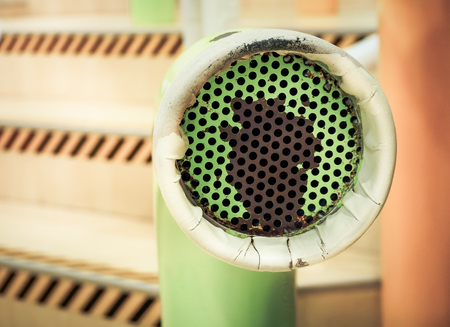 speaking tube: Voice communication with a tube speaker, Selective focus and Close up image