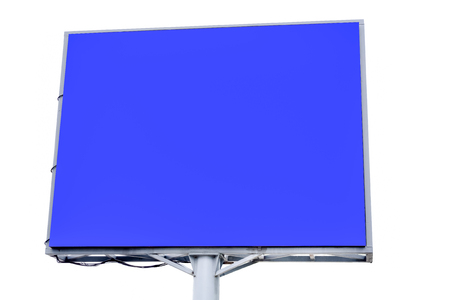 Blank billboard for new advertisement, Isolated on white background