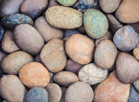 peeble: Colorful of round peeble stone texture and background Stock Photo