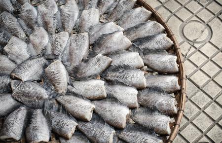expose: Dried fish expose to sun Stock Photo