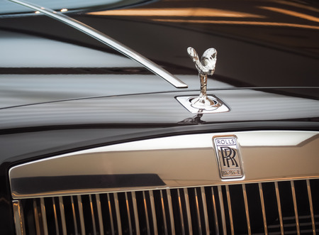 BANGKOK, THAILAND - 4 AUGUST 2017: Rolls-Royce Ghost and Exclusive Luxury Rolls Royce at Car Showroom in Bangkok, Thailand