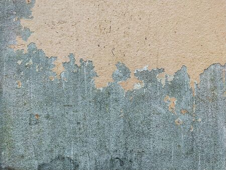 Grunge paint green wall background. Old cracked green painted. Abstract textured and background. Standard-Bild - 133675730