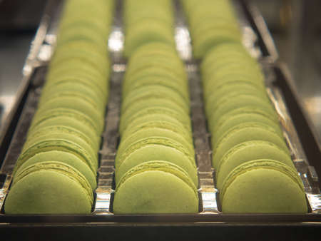 French Pistachio Macaroons or French sweet cookie.