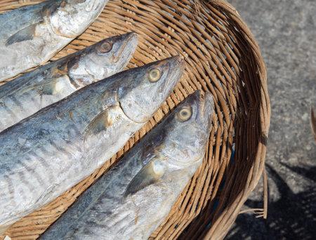 Sun-dried eagle fish for use as seafood. Standard-Bild