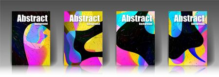 Abstract cover, colorful, placement,the amount of four covers