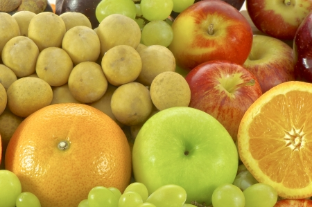 Background of fresh fruits photo