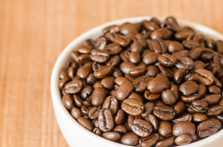 robusta: Coffee bean in white cup