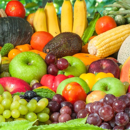 finer: Fruits and vegetables  Stock Photo