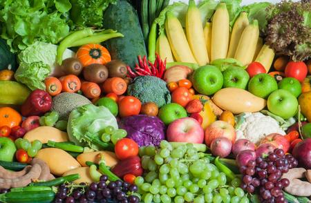 Fruits et légumes tropicaux mixtes Banque d'images - 28227160