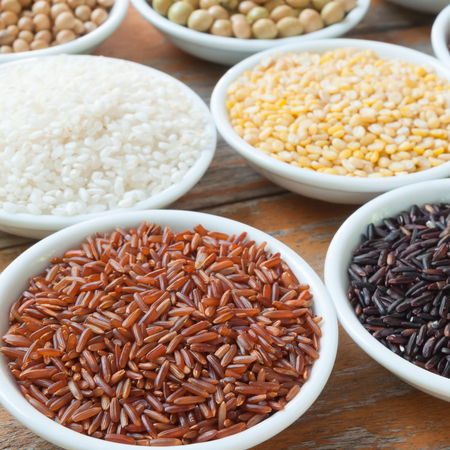 Brown rice and Grains crop photo