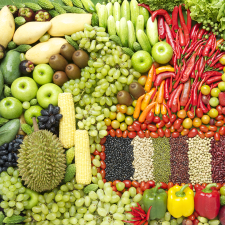 mixed vegetables: Bean and vegetables Stock Photo