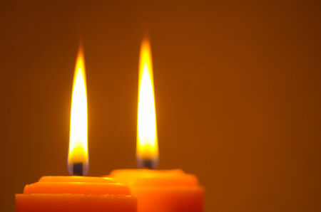 memorial candle: Pair of candles Stock Photo