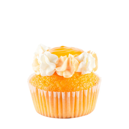 cupcakes isolated: Banana cup cakes Stock Photo