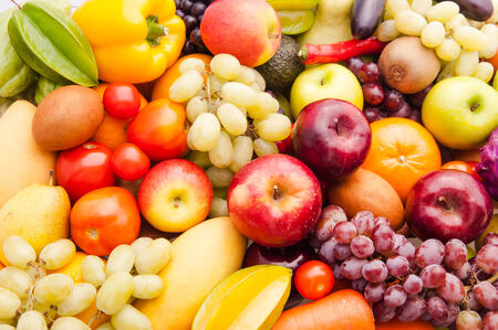 Fruits and vegetables for healthy photo