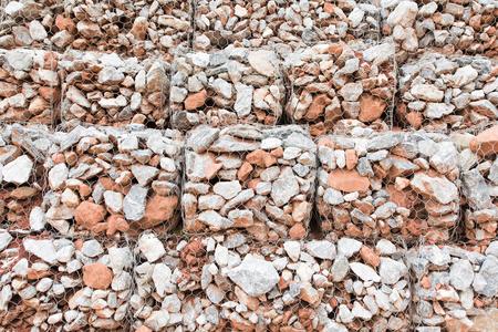 gabion: Gabion wall Stock Photo
