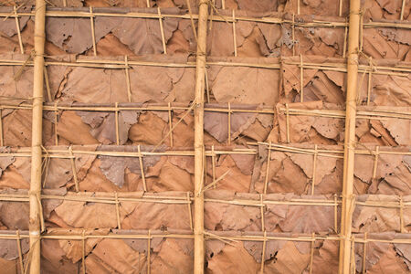 thatched roof: Texture of thatched roof in the countryside,Thailand Stock Photo