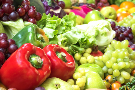 organics: Bell pepper and vegetables organics Stock Photo