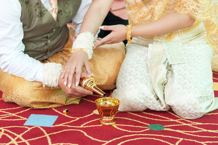 the spouse: Spouse are Sangh watering Stock Photo