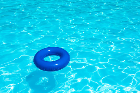 pool water: Buoy On Water Pool Stock Photo