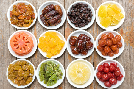 spoilage: Collection of dried fruits background