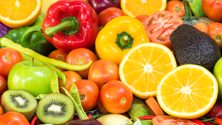 organics: Group Fruits and vegetables organics for healthy