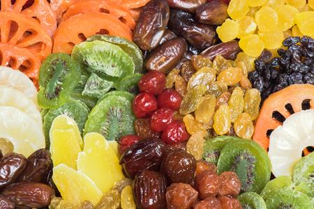 frutas deshidratadas: Las frutas secas colecci�n fondo