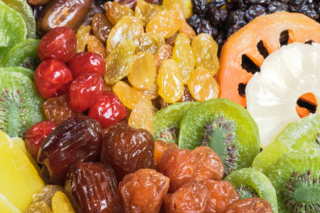 Dried fruits collection background 免版税图像