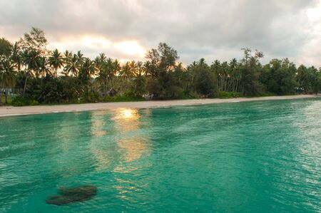 Sunrise at tropical beach,Koh Kood Thailand photo