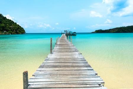 kood: Bridge to the ocean at Koh Kood island  Thailand