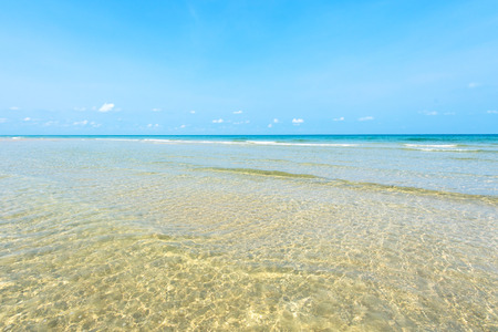 Beautiful gentle surf at the shallow beachKoh Chang Thailand