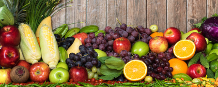Tropical fruits and vegetables organics for healthy