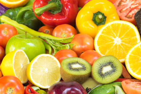 organics: Tropical fruits and vegetables organics for healthy